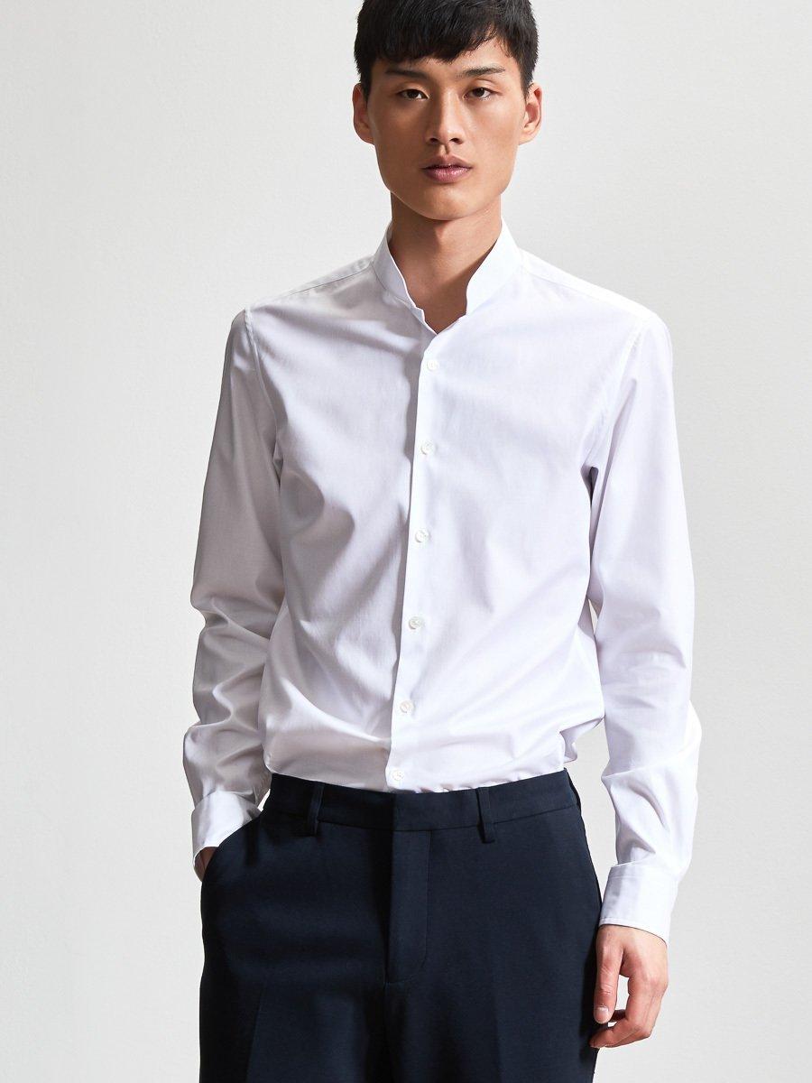 506f40f3c09fbc Cotton Mandarin Collar Shirt