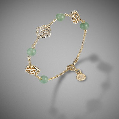 Jade and knot bracelet
