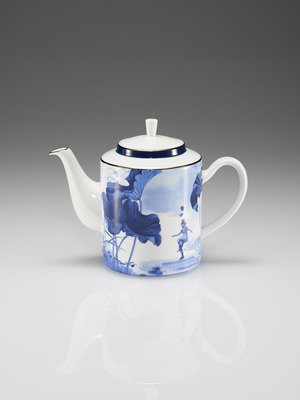 Blue Lotus Tea Pot Blue