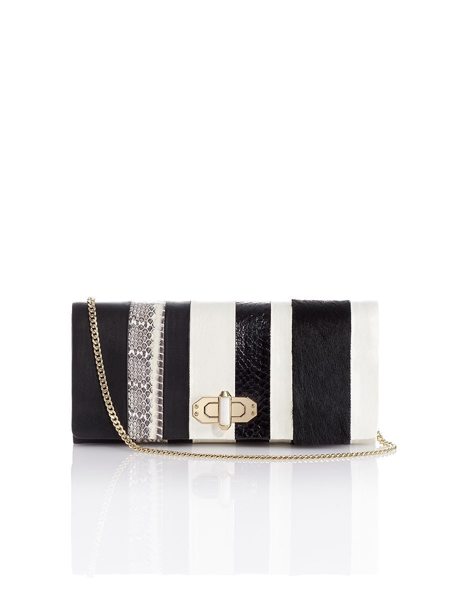 Mongolian Patchwork Twist Lock Clutch