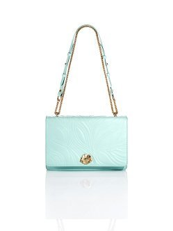 Porcelain Embossed Shoulder Bag