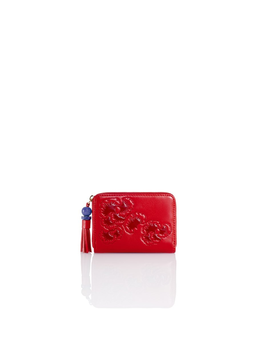 Gingko Embossed Coin Purse