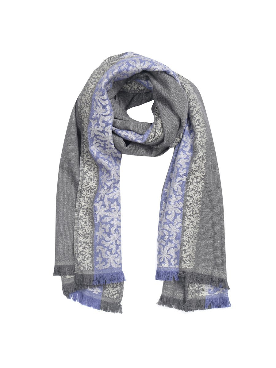 Asian Ribbon Silk Cashmere Jacquard Shawl