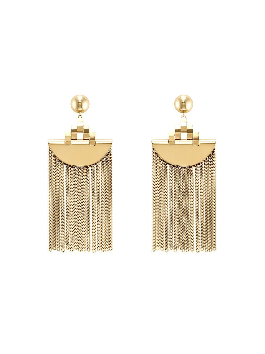 Mongolian Ikat Tassel Earrings