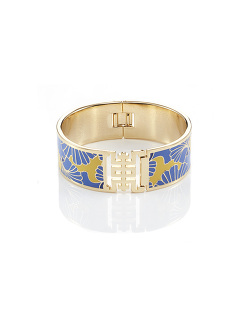 Ginkgo Enamel Shou Bangle