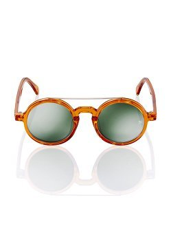 Retro Chinese Round Sunglasses Tangerine