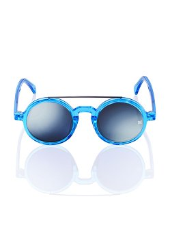 Retro Chinese Round Sunglasses Ocean Blue
