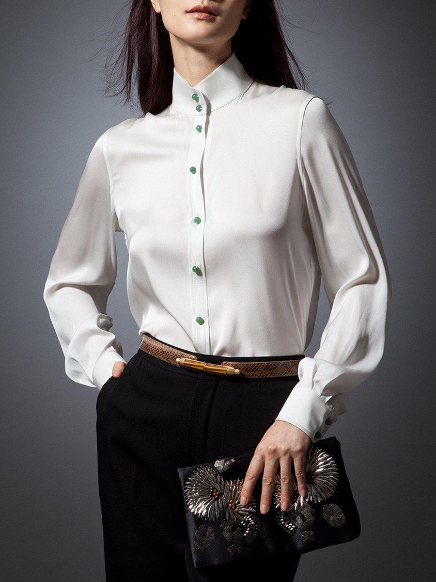 Chinese Silk Blouse Uk Collar Blouses