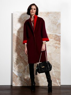 Reversible Double Face Wool-Angora Coat