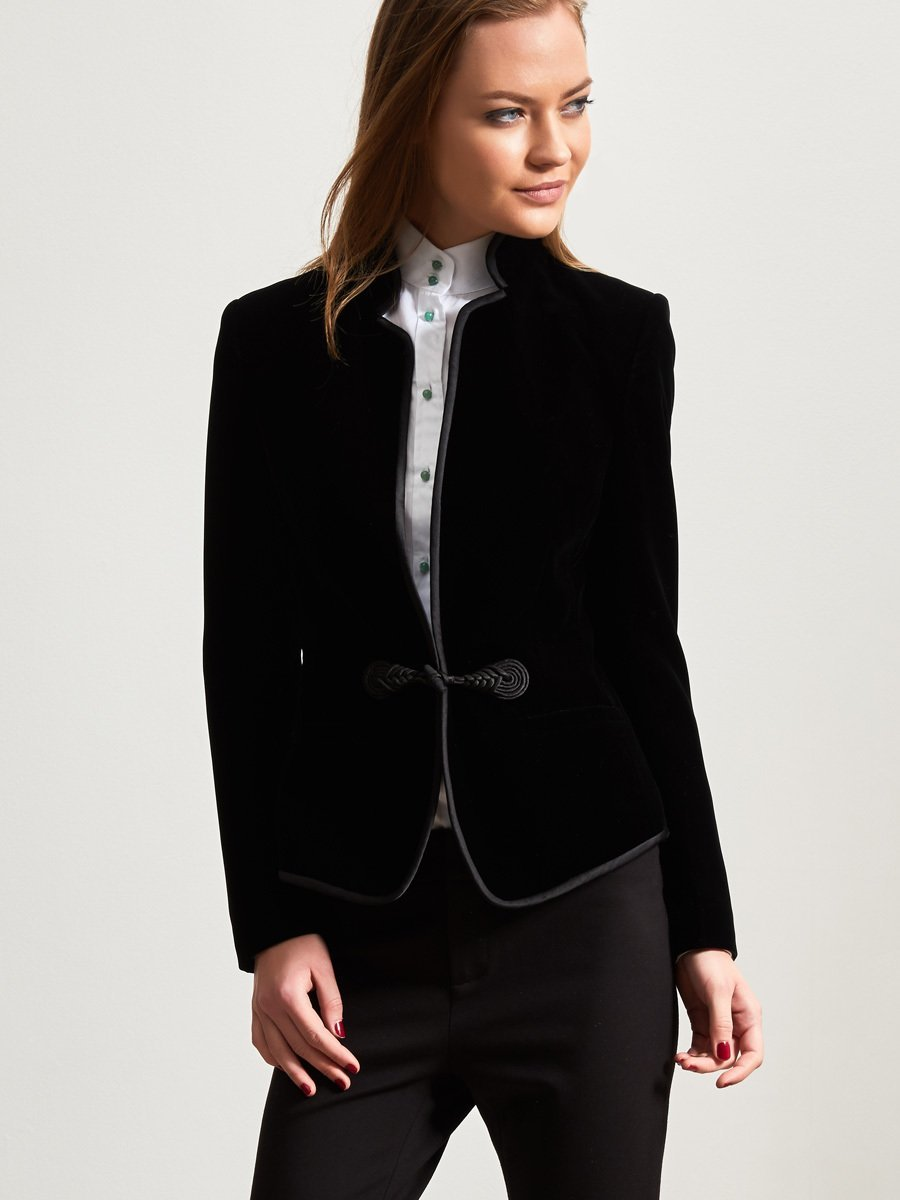 Velvet Jacket With Printed Lining
