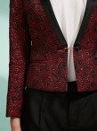 Lacquered Jacquard Fitted Jacket