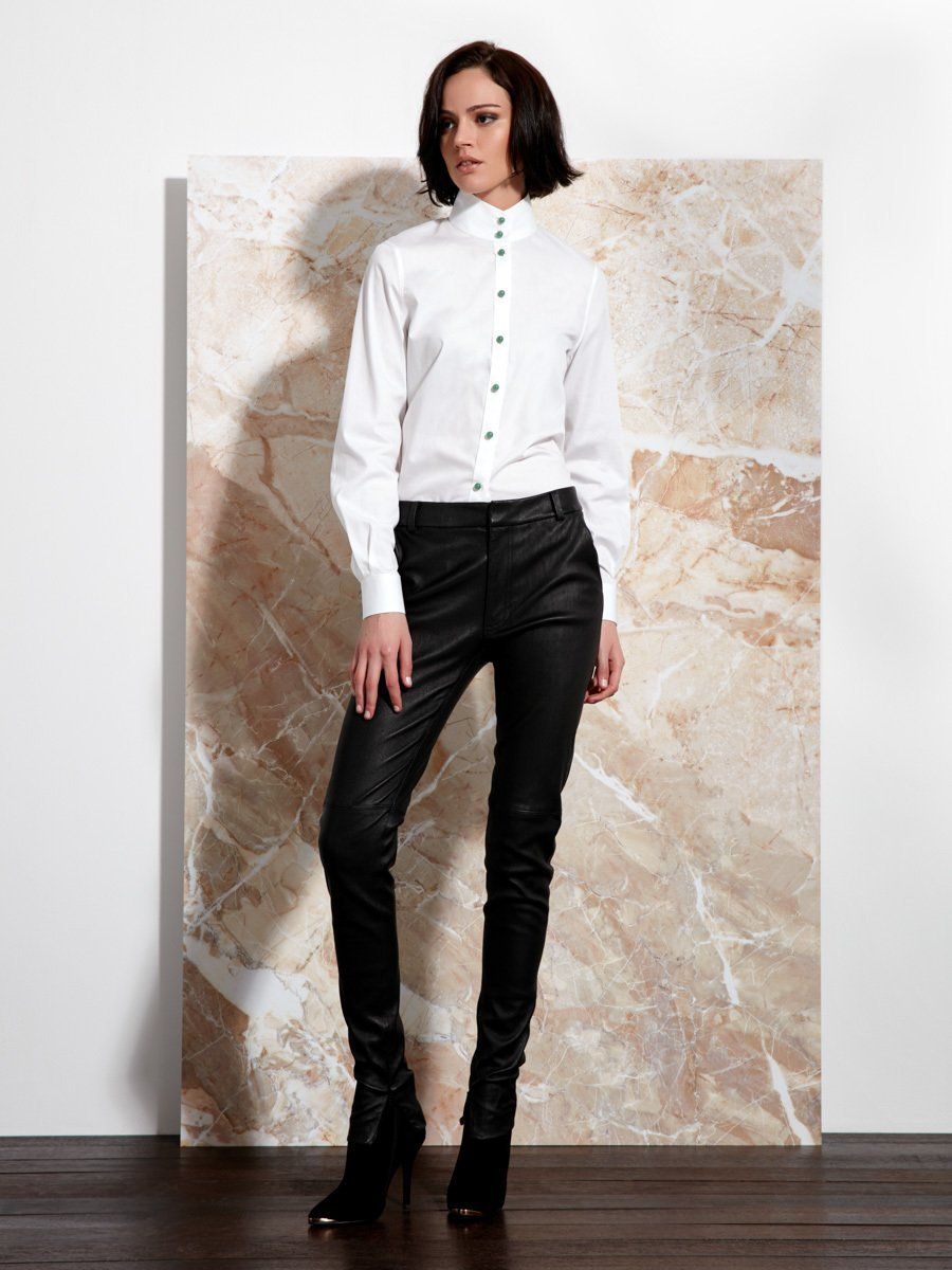 High Collar Cotton Shirt