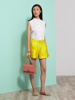 Cotton Sleeveless Shirt With Trim