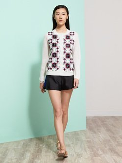 Miao Embroidery Wool Cardigan