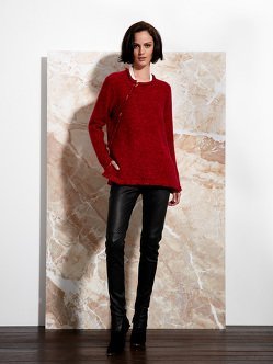 Cashmere Tweed Pullover with Fringes