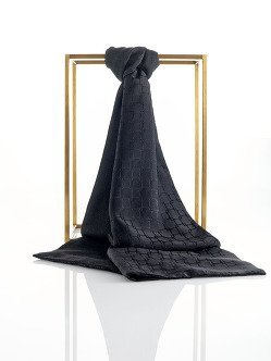 Micro Lattice Silk Jacquard Pashmina Scarf