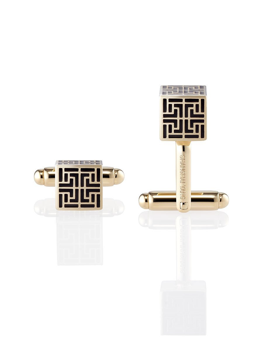 Eternity Lattice Cube Cufflinks