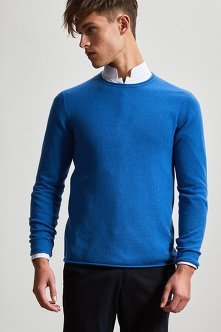 Cashmere Silk Sweater with Contrast Shou Embroidery