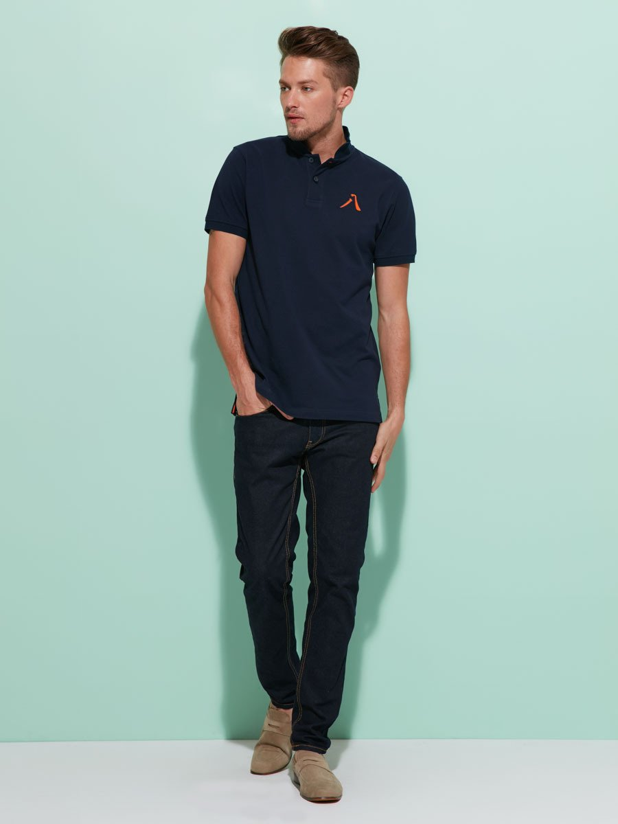 '8' Embroidery Cotton Pique Polo Shirt
