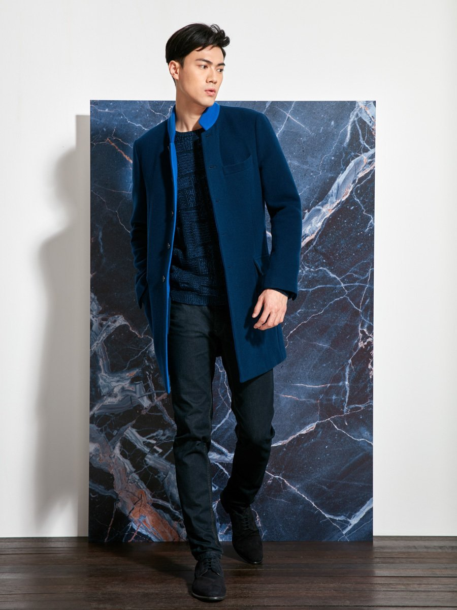 Wool Double Face Coat (Slim Fit)