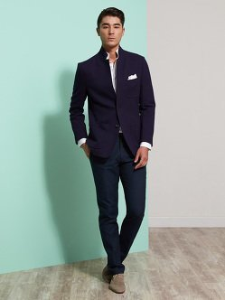 Cotton Thick Pique Blazer (Slim Fit)