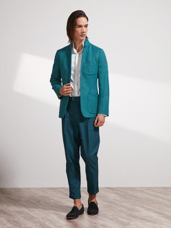 Linen-Cotton Blazer (Slim Fit)