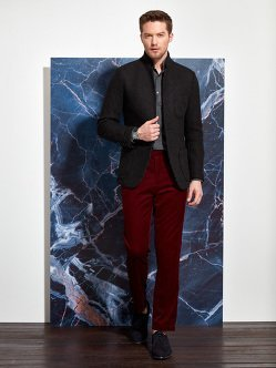 Wool Polyester Cotton 3D Knit Blazer (Slim Fit)