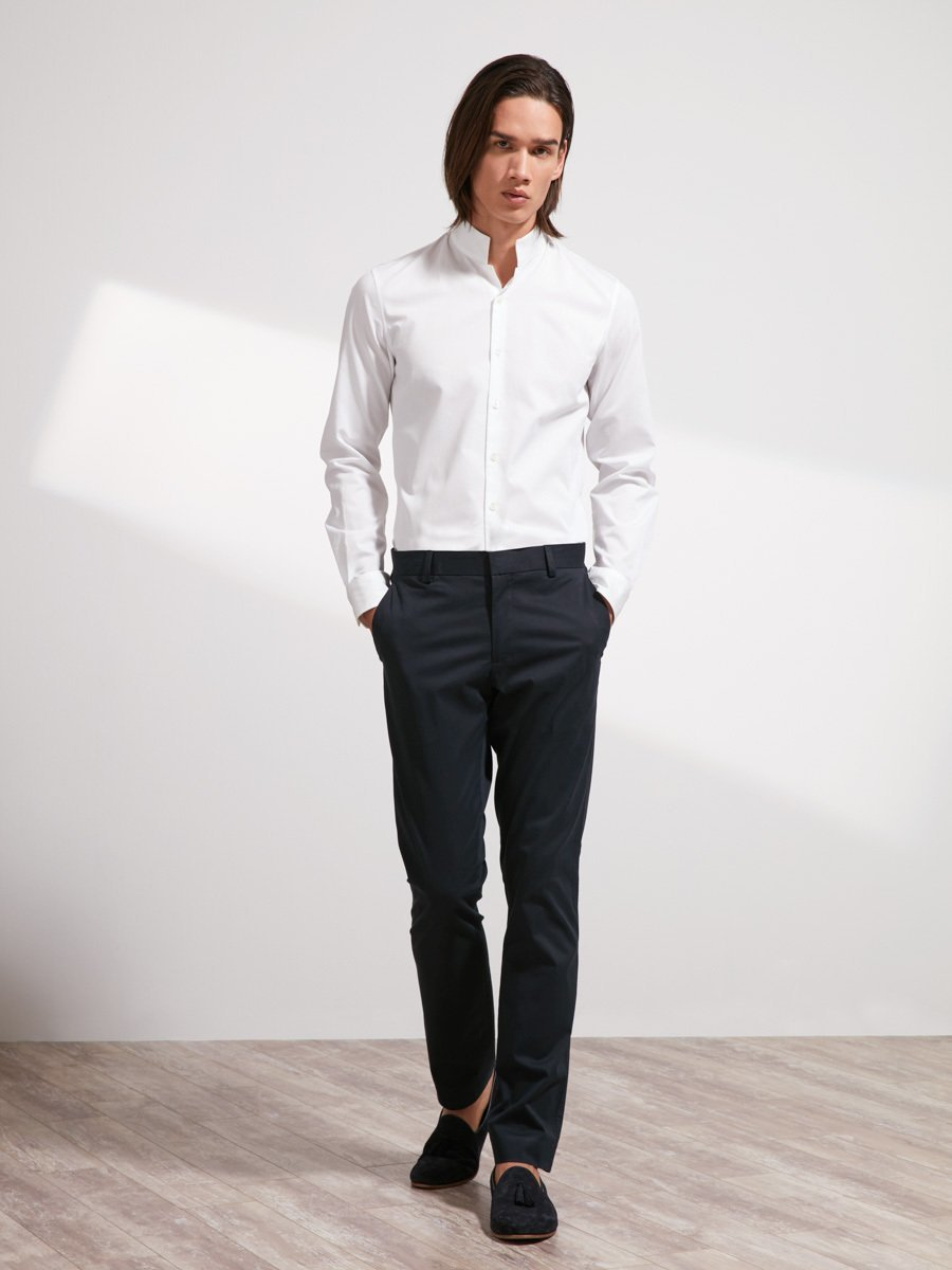 Cotton Officer Collar Shirt (Slim Fit)