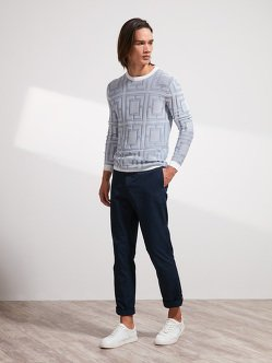 Cotton Ottoman Lattice Sweater