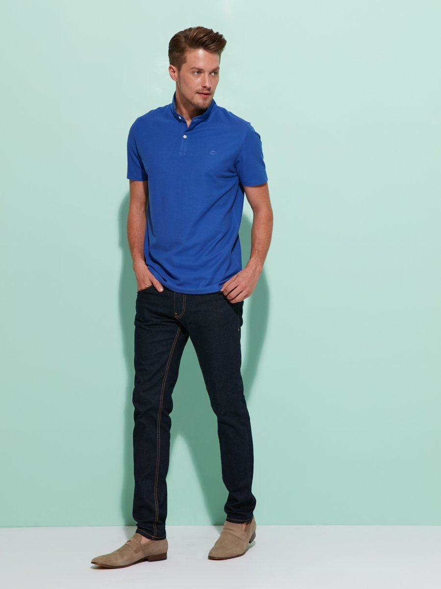 Mens Cotton Fine Pique Polo