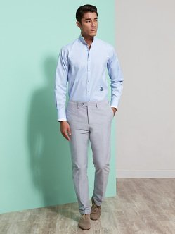 Cotton Oxford Suit Pants