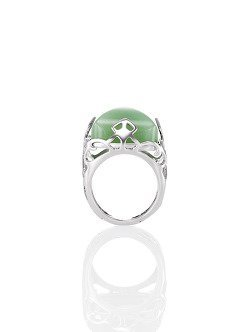 Jade Inspired Lattice Ring