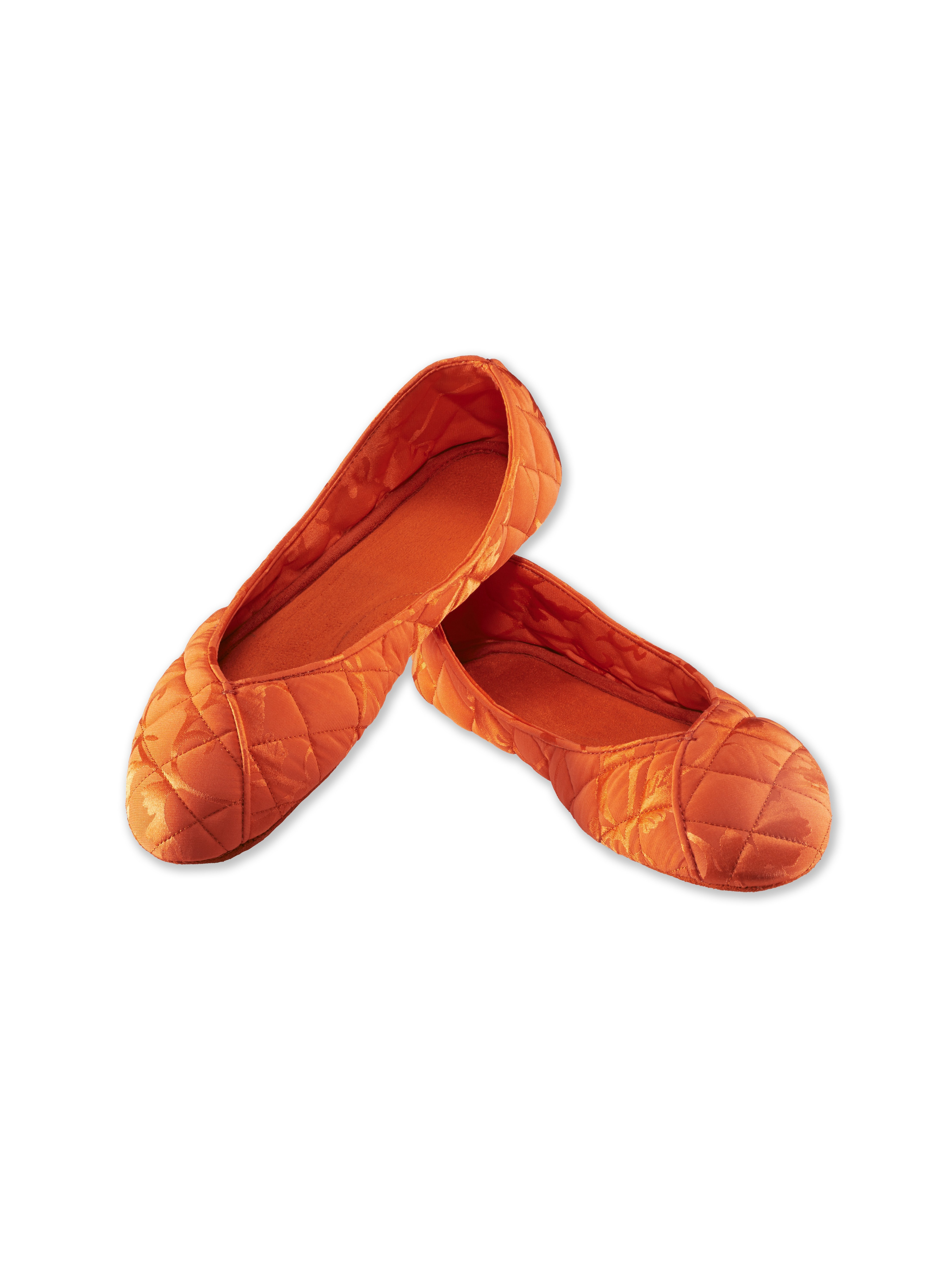 Leaves Silk Jacquard Slippers