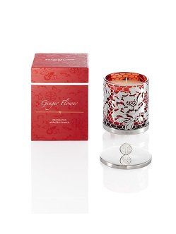 Limited Edition Ginger Flower Candle Holder with Lid