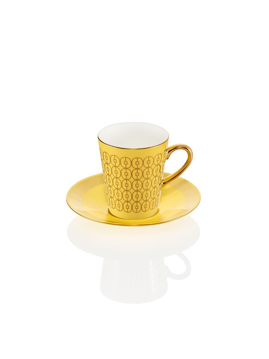 Coin Lattice Espresso Cup and Saucer