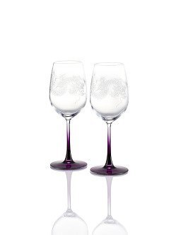 Colour Dragon White Wine Glasses (Set of 2)