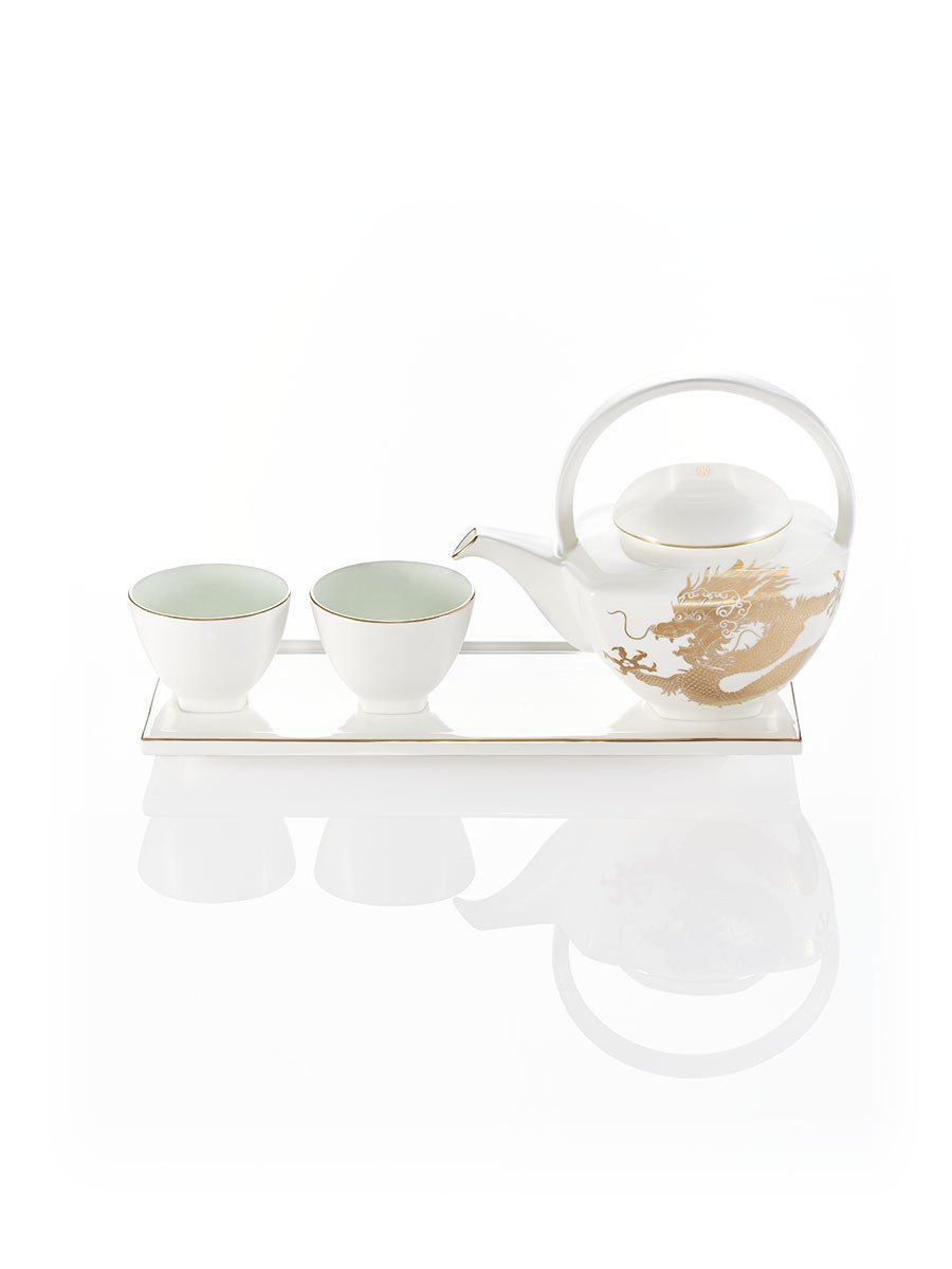 Dragon Teapot Set (With 2 Cups and Serving Tray)