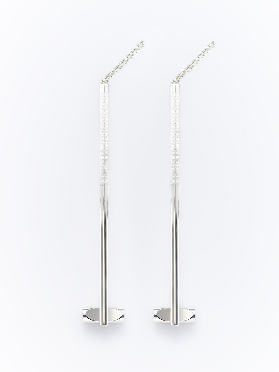 Silver Plated Chopsticks (Set of 2 Pairs)