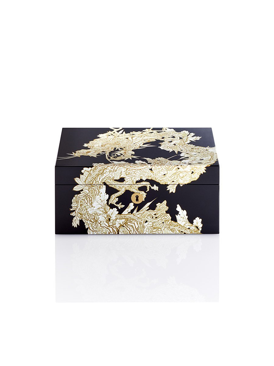 Carved Dragon Lacquer Watch Box