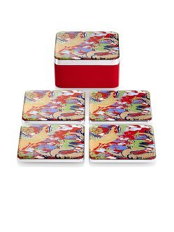 Dragon and Phoenix Enamel Coasters (Set of 4)
