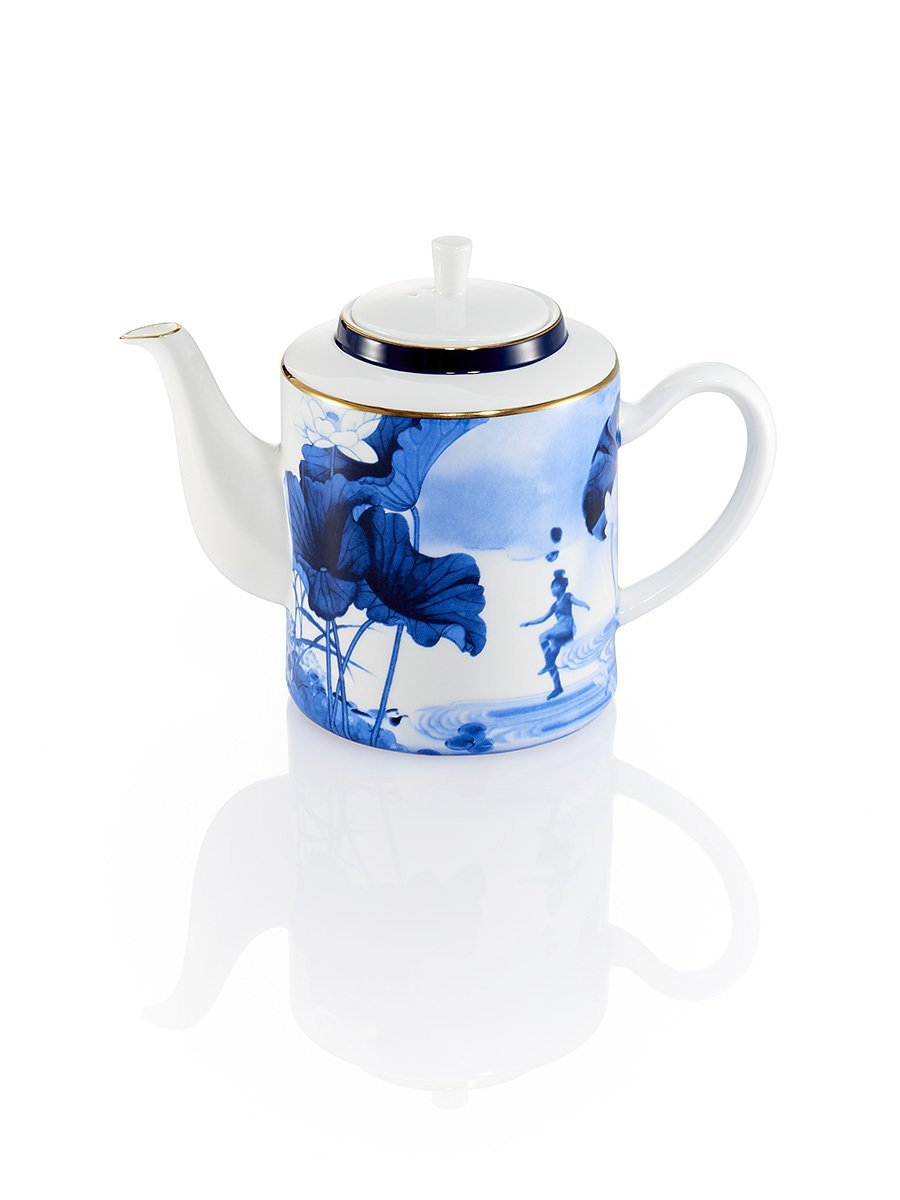 Blue Lotus Tea Pot