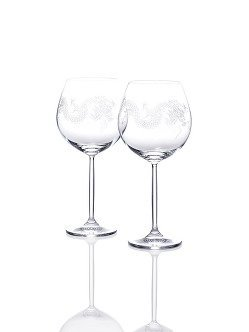 Dragon Burgundy Wine Glasses (Set of 2)