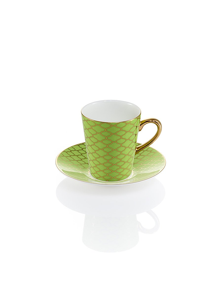 Happiness Espresso Cup and Saucer
