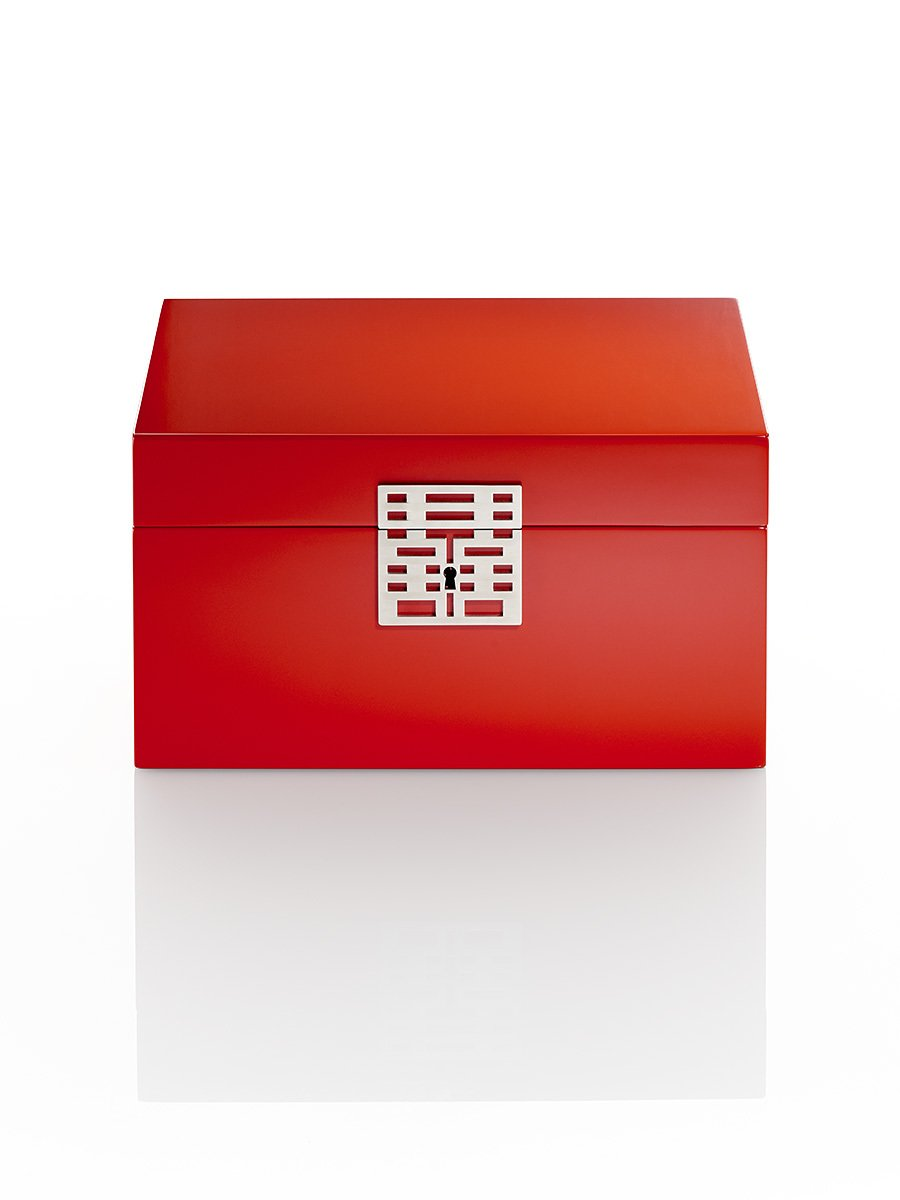 Double Happiness Jewellery Box in Lacquer Wood (Large)