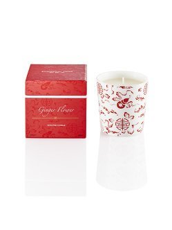 Ginger Flower Bone China Candle
