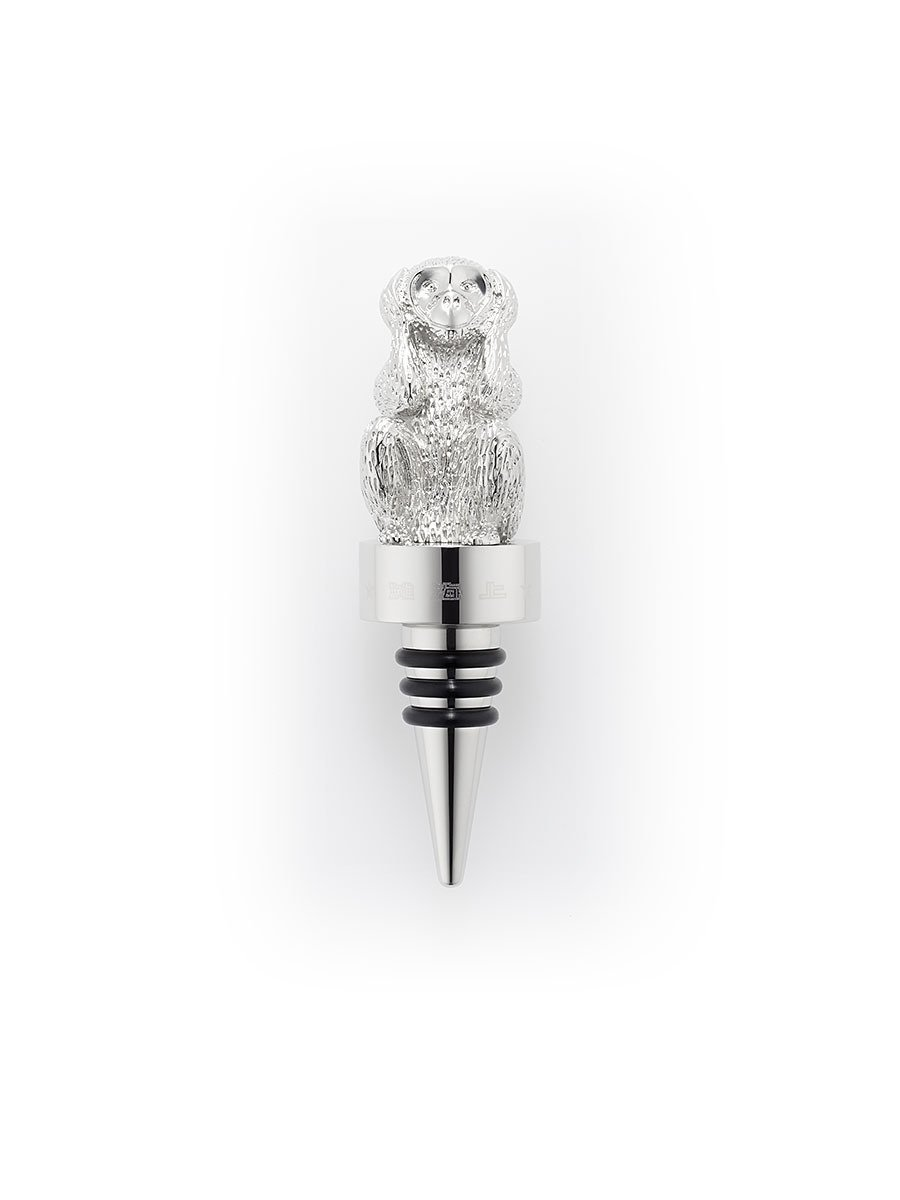 Monkey Hear No Evil Wine Stopper
