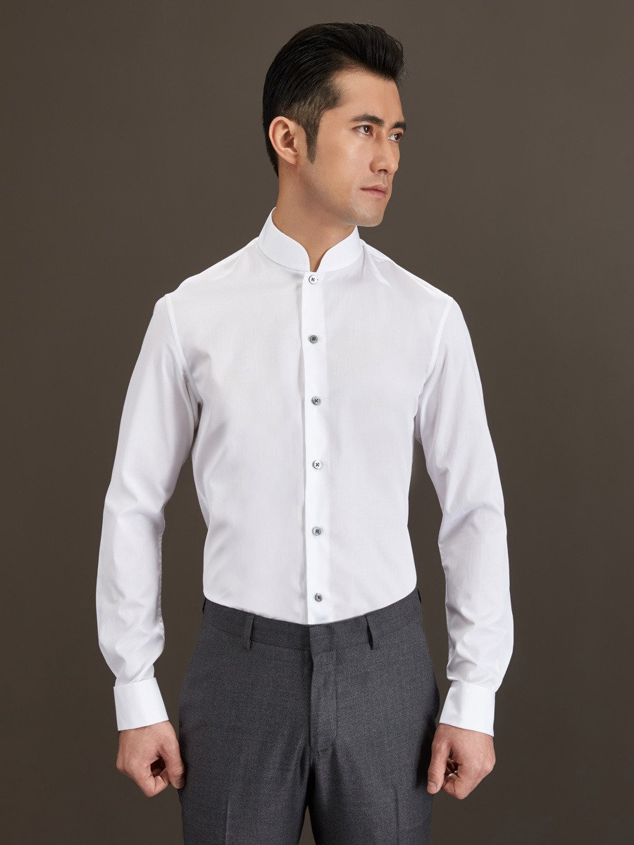 Cotton Shirt with French Cuffs